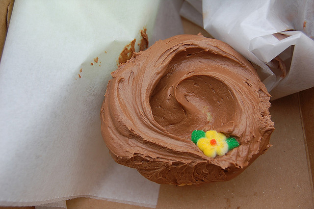 Magnolia Bakery NYC cupcake recipe - Chocolate Icing