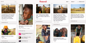 charity: water - philanthropy board Pinterest