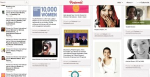 Women for Women - philanthropy board Pinterest