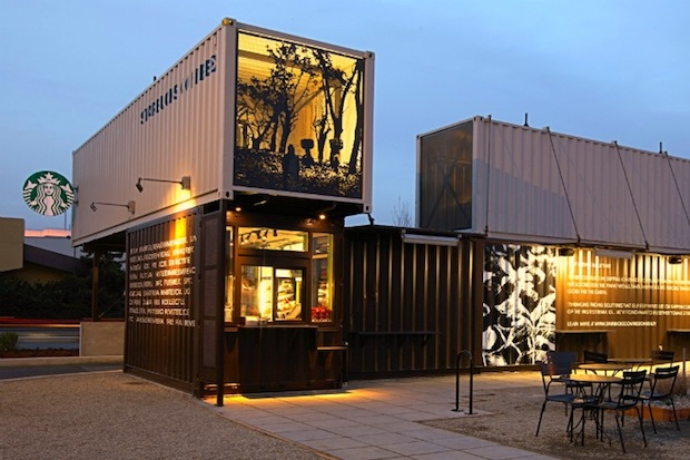 Reclamation Drive Thru Starbucks 2 Green Design: This Coffee Shop is Made From Reclaimed Shipping Containers
