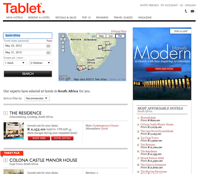 Screen Shot 2012 05 20 at 10.02.48 AM Announcing our Partnership with Tablet Hotels