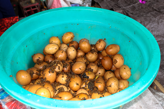 East Bali Market - Eggs with Garlic and Lemongrass