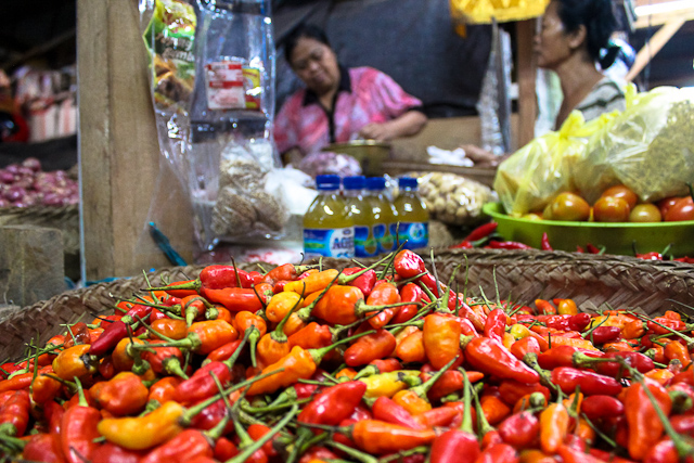 East Bali Market - Local Balinese Peppers