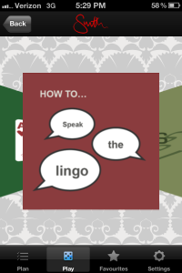 Mr and Mrs Smith Hotel App - How to Speak the Lingo