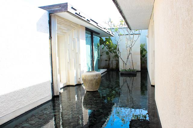 Alila Villas Uluwatu, Bali - Reflection Pool with Lava Rock in Three Bedroom VIlla