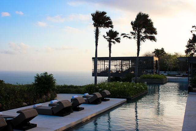 Alila Villas Uluwatu, Southern Bali - View at Sunset of Sunset Cabana | Eco Luxury Travel