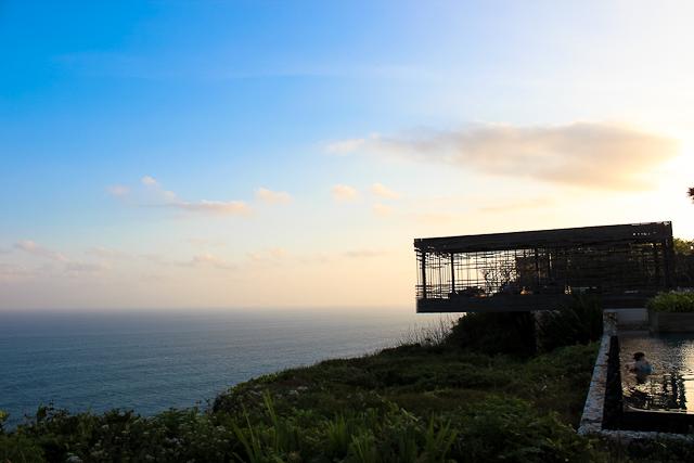 Alila Villas Uluwatu, Southern Bali - View at Sunset of Sunset Cabana | Luxury Eco Travel