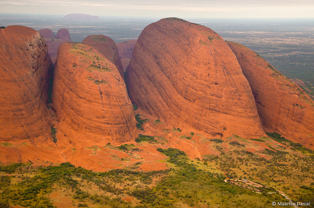 Australia red rocks in desert