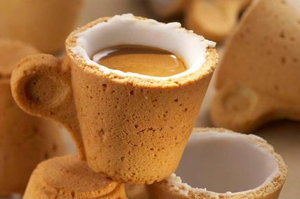 Lavazza edible coffee cup