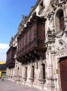wooden balcony downtown lima