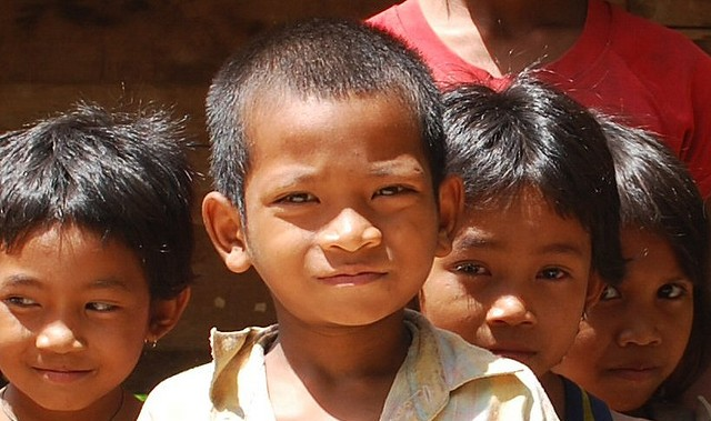 cambodian village kids
