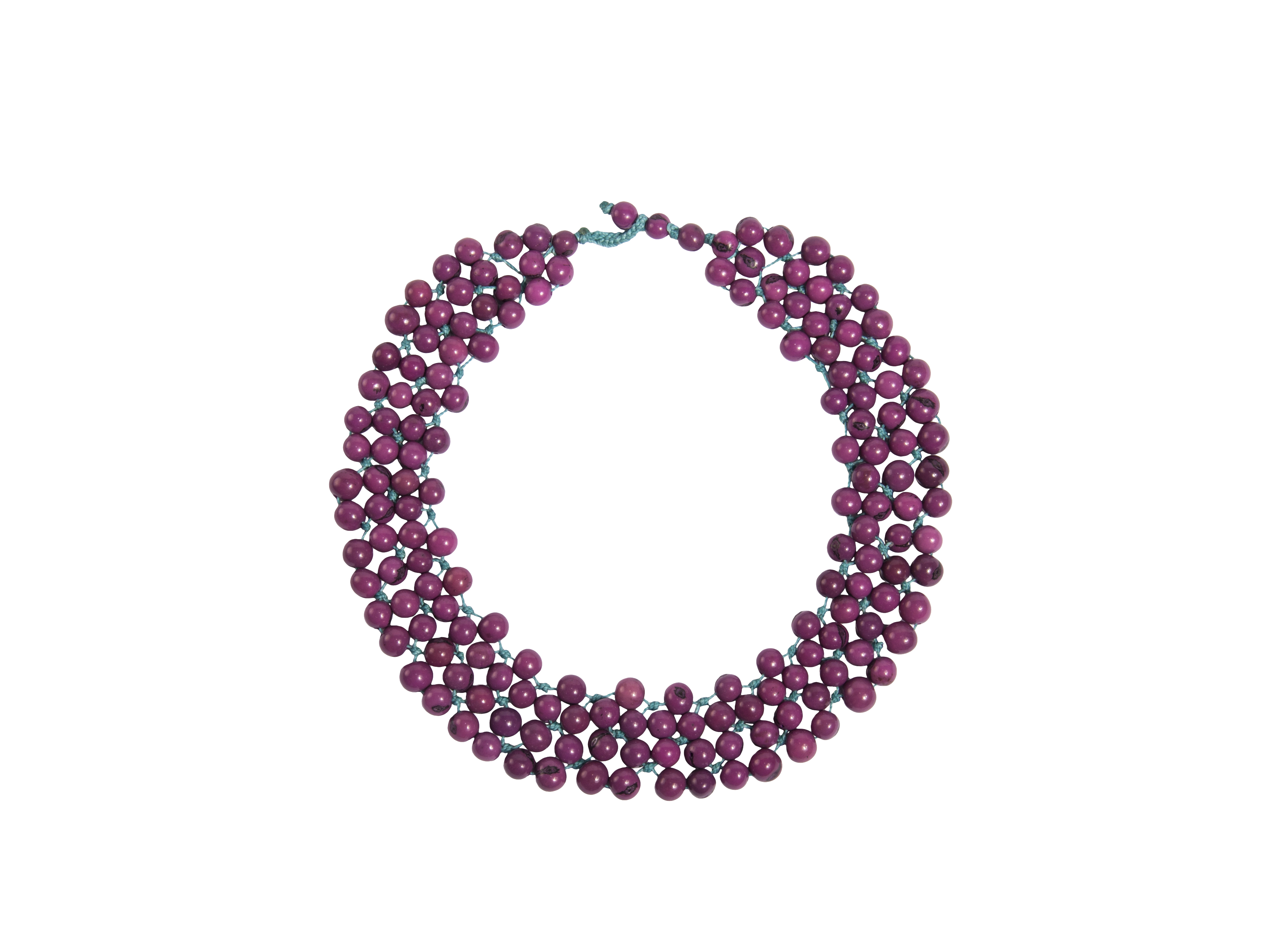 AC Marea Collar NKL berry How the Andean Collection has Empowered Artisans in Ecuador to Rise Above Poverty