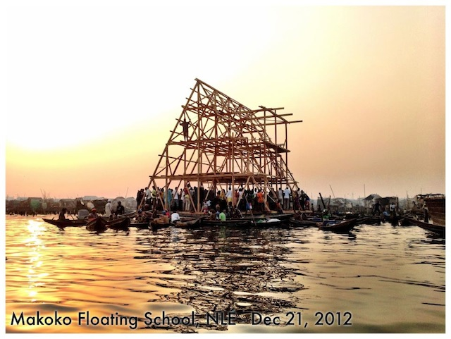 Makoko Floating Schoo Spine This Floating School in Nigeria is Pioneering Sustainable Development of Coastal Cities