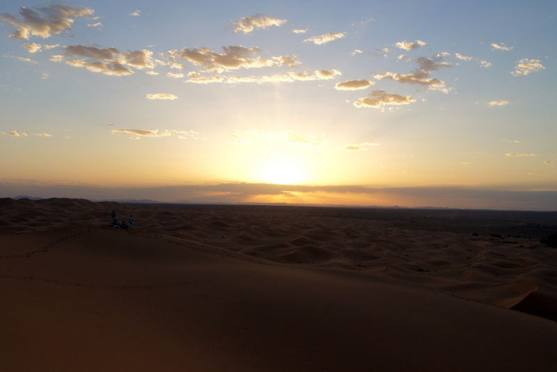 Saharan sunset Beyond the City and Into the Dunes, A Photo Essay of The Moroccan Sahara