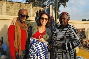 Lanee Lee Neil and Sunny Dolat at Nairobi's Maasai Market