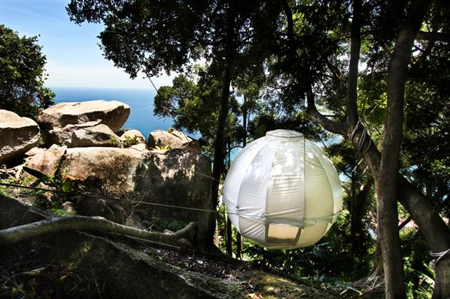 Cocoon Tent Tree House 2 This Luxurious Cocoon Tent Lets You Nest Among Trees in a Stunning Setting