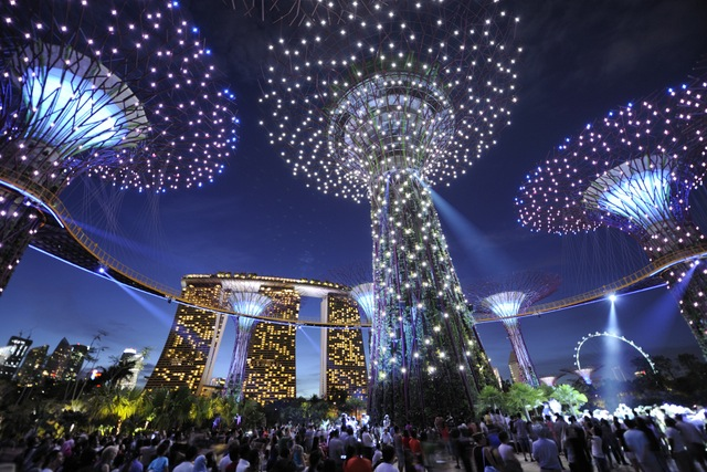 gardens by the bay supertrees