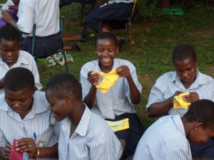 RUMPS Student Successfully Sews a RUMPS Pad 300x225 Sewing Away the Shame: Empowering Africas Girls, One Pad at a Time