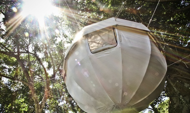 cocoontree feature This Luxurious Cocoon Tent Lets You Nest Among Trees in a Stunning Setting