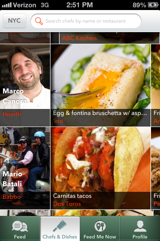 Chefs Feed app nyc