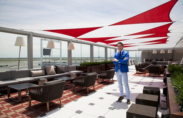 Sky Deck 5 Kathleen Manstream for Architectural Digest Marketing Rooftop Terrace with a Runway View:  Delta Debuts its New Outdoor Sky Deck