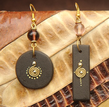 Wooden Earrings From Paper to Jewelry: The Women of Ugandas Acholi Quarter Finally Have Hope