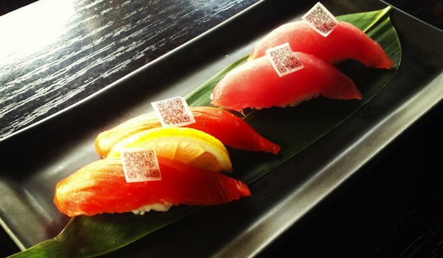 sushi QR Code At Harney Sushi, Edible Information Tells You About the Sustainability of Your Fish