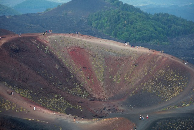 mt etna crater