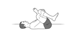 reclined ankle to knee pose