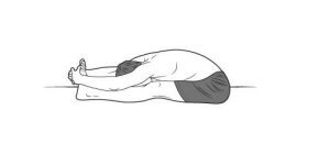 seated forward bend 300x150 Yoga for Long Travel
