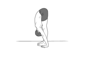 standing forward bend 300x205 Yoga for Long Travel