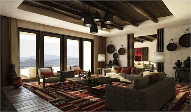 alilajabalakhdar royal suite living room An Unparalleled Stay Amidst Omans Al Hajar Mountains