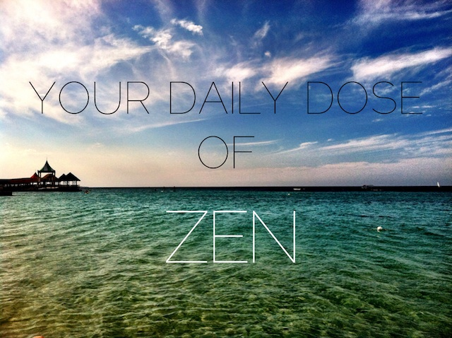 daily dose of zen