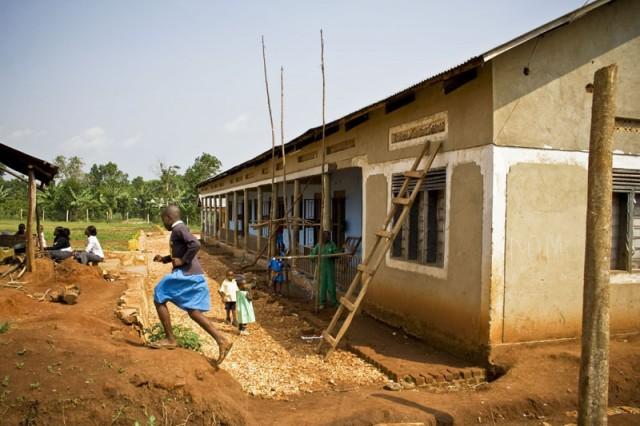 Construction at School, Central Uganda