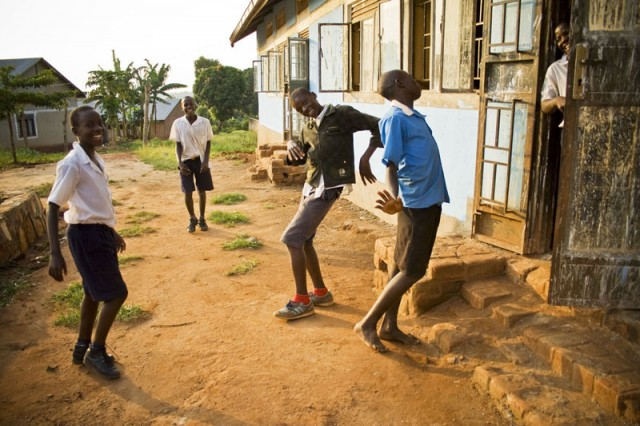 Students Play Around after Class, Central Uganda