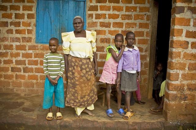 Ugandan Family on Porch