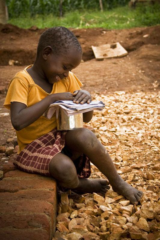 Student at School, Central Uganda